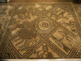 Mosaic Floor, Brading Roman Villa, Isle of Wight, England, United Kingdom Photographic Print by Charles Bowman