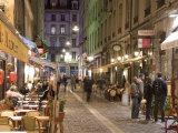 Restaurants on Rue Des Marronniers, Lyon, Rhone, France Photographic Print by Charles Bowman