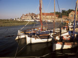 Boats Moored in Harbour, Blakeney Hotel, Blakeney, Norfolk, England, United Kingdom Photographic Print by Charcrit Boonsom