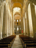 Nave of Romanesque Abbey Church of Ste. Foy, North of Rodez Photographic Print by Richard Ashworth