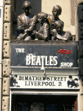 Statues of the Beatles, the Cavern Quarter, Liverpool, England, United Kingdom Photographic Print by Charles Bowman