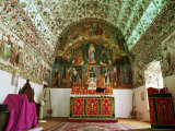 Syrian Christian Church, Cheria Palli (Small St. Mary's), Side Wall and Barrel Vault Paintings Photographic Print by Richard Ashworth