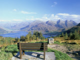 Bealach Ratagain Viewpoint Looking Towards the Five Sisters of Kintail and Loch Duich in Glen Sheil Photographic Print by Pearl Bucknall