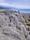 Eroded Stratified Limestone Columns, Punakaiki Pancake Rocks and Blowholes, Westland Photographic Print by Jeremy Bright