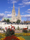 Chartres Cathedral, Unesco World Heritage Site, Chartres, Eure-Et-Loir, France Photographic Print by Charles Bowman