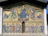 Mosaic of Christ in Majesty Dating from the 13th Century, Lucca, Italy Photographic Print by Richard Ashworth