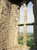 Detail of Window in Weobley Castle, Gower Peninsula, West Glamorgan, Wales, United Kingdom Photographic Print by Julia Bayne