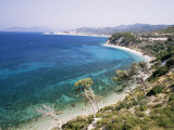 Coastline Near Kokkeri, Island of Samos, Greece Photographic Print by David Beatty