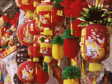 Red and Yellow Lanterns for Sale at Chinese Lantern Shop in Georgetown, Penang, Malaysia Photographic Print by Charcrit Boonsom