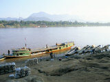 Looking East Across the Mekong River in the Evening, to Luang Prabang, Laos, Indochina Photographic Print by Richard Ashworth