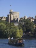 River Thames and Windsor Castle, Berkshire, England, United Kingdom Photographic Print by Charles Bowman