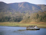 Tourist Boat Viewing Animals, Periyar Wildlife Reserve, Kerala State, India Photographic Print by Richard Ashworth