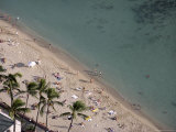 Aerial View of Waikiki Beach, Honolulu, Oahu Island, Hawaiian Islands Photographic Print by Charles Bowman