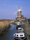 Boats on Waterway and Windmill, Cley Next the Sea, Norfolk, England, United Kingdom Photographic Print by Jeremy Bright