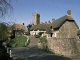 Godshill Village, Isle of Wight, England, United Kingdom Photographic Print by Charles Bowman