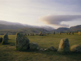 Castlerigg Stone Circle (The Druid's Circle), Lake District National Park, Cumbria, England, Uk Photographic Print by Charles Bowman