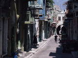 One of the Main Streets, Pyrgi, Chios (Khios), Greek Islands, Greece Photographic Print by David Beatty