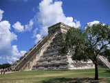 El Castillo Pyramid at Chichen Itza, Unesco World Heritage Site, Yucatan, Mexico, North America Photographic Print by Nelly Boyd