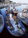 Boats in the Harbour, Arenys De Mar, Costa Brava, Catalonia, Spain Photographic Print by Jeremy Bright