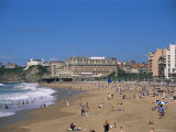 The Beach, Biarritz, Aquitaine, France Photographic Print by Nelly Boyd