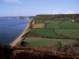 East Devon Coast Path, Near Sidmouth, Devon, England, United Kingdom Photographic Print by Cyndy Black