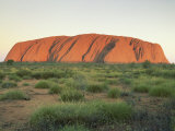 Uluru, Uluru-Kata Tjuta National Park, Unesco World Heritage Site, Northern Territory, Australia Photographic Print by Julia Bayne