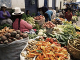Street Market, Cuzco, Peru, South America Photographic Print by Charles Bowman