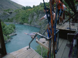 A. J. Hackett, Bungy Jumping, Kawarau Bridge, Queenstown, South Island, New Zealand Photographic Print by Jeremy Bright