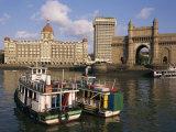 Gateway to India and the Taj Mahal Hotel, Mumbai (Bombay), India Photographic Print by Charles Bowman