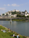 Cityscape with River Salzach,, Salzburg, Austria Photographic Print by Charles Bowman