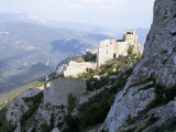 Cathar Castle of Peyrepertuse, Between Carcassonne and Perpignan, France Photographic Print by Richard Ashworth