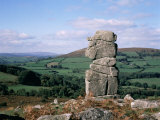 Bowerman's Nose, Dartmoor, Devon, England, United Kingdom Photographic Print by Cyndy Black