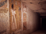 Wall Paintings, Tomb of Septah, Valley of the Kings, Thebes, Unesco World Heritage Site, Egypt Photographic Print by Richard Ashworth