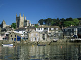 Waterfront, Fowey, Cornwall, England, United Kingdom Photographic Print by Julia Bayne