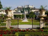 Mirabell Gardens and Schloss Hohensalzburg, Salzburg, Austria Photographic Print by Charles Bowman