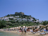 Lindos Beach, Rhodes, Greek Islands, Greece Photographic Print by Nelly Boyd