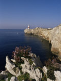 Europa Point Lighthouse, Gibraltar, Mediterranean Photographic Print by Charles Bowman