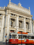 Hofburgtheatre with Tram, Vienna, Austria Photographic Print by Charles Bowman