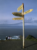 World Sign, Cape Reinga, Northland, North Island, New Zealand Photographic Print by Jeremy Bright