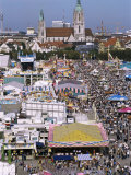 Oktoberfest from Above, Munich, Bavaria, Germany Photographic Print by Charles Bowman