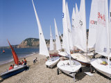 Laser Dinghies, Sidmouth, Devon, England, United Kingdom Photographic Print by Cyndy Black