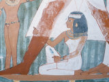 Wall Painting in the Tomb of Nakht, Valley of the Nobles, Thebes, Unesco World Heritage Site, Egypt Photographic Print by Richard Ashworth