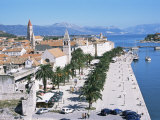 Promenade of the Medieval Town of Trogir, Unesco World Heritage Site, North of Split, Croatia Photographic Print by Richard Ashworth