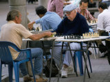 Men Playing Chess, Sabana Grande District, Caracas, Venezuela, South America Photographic Print by Charles Bowman
