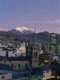 La Paz and Mount Illampu, Bolivia, South America Photographic Print by Charles Bowman