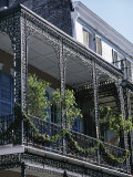Wrought Iron Balcony, French Quarter, New Orleans, Louisiana, USA Photographic Print by Charles Bowman