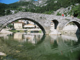 Bridge at Rijeka Crnojevica, a Former Royal Summer Resort, Near Cetinje, Montenegro Photographic Print by Richard Ashworth