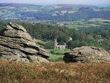 Granite Rocks, Dartmoor, Devon, England, United Kingdom Photographic Print by Cyndy Black