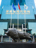 Stock Exchange, Shenzhen Special Economic Zone (S.E.Z.), Guangdong, China Photographic Print by Charles Bowman