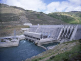 The Clyde Dam on the River Clutha, Central Otago, New Zealand Photographic Print by Jeremy Bright